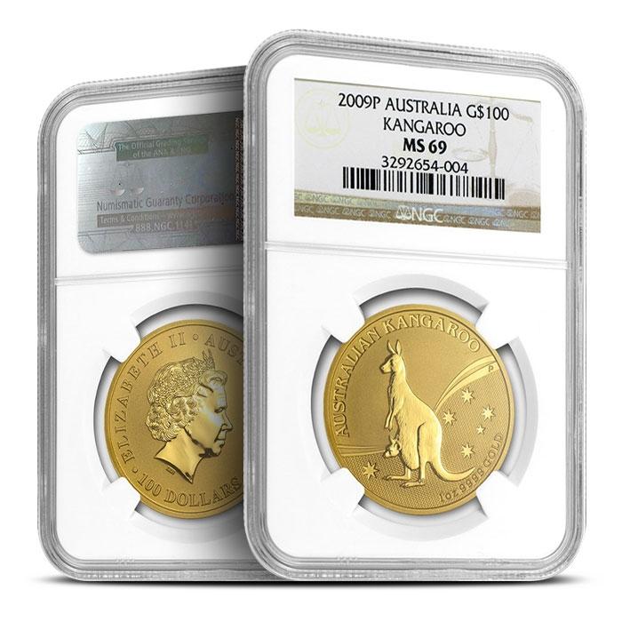 2009 Australian 1 oz Gold Kangaroo | NGC MS69