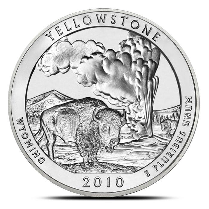 2010 Yellowstone National Park 5 oz Silver ATB