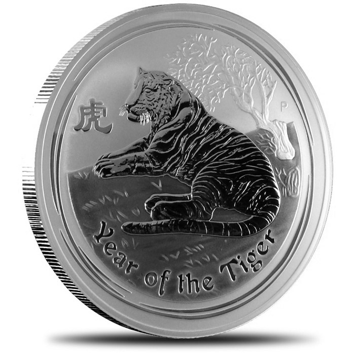 2010 1/2 kilo Silver Year of the Tiger Coin | Perth Mint Lunar Series II-0