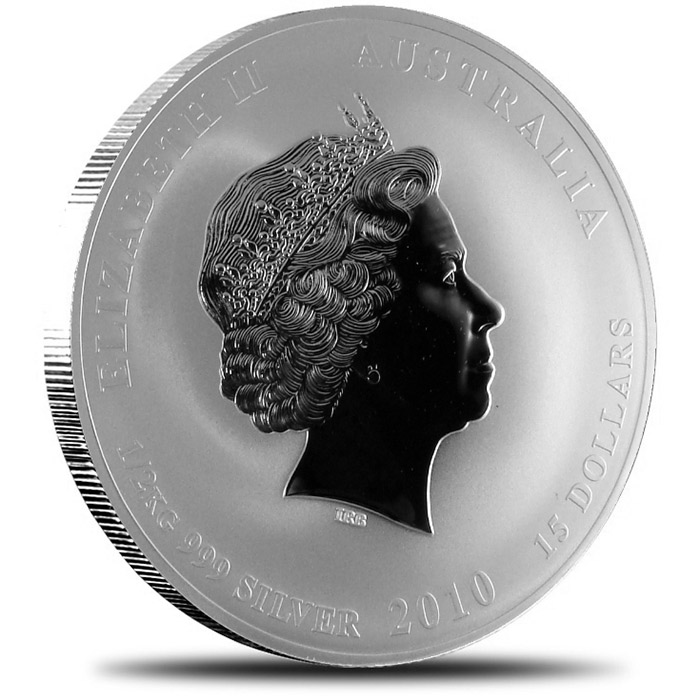 2010 1/2 kilo Silver Year of the Tiger Coin | Perth Mint Lunar Series II-8238