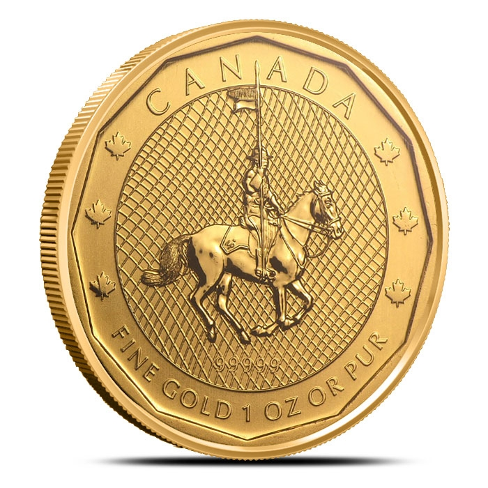 Mountie Canadian 99999 Gold Coin