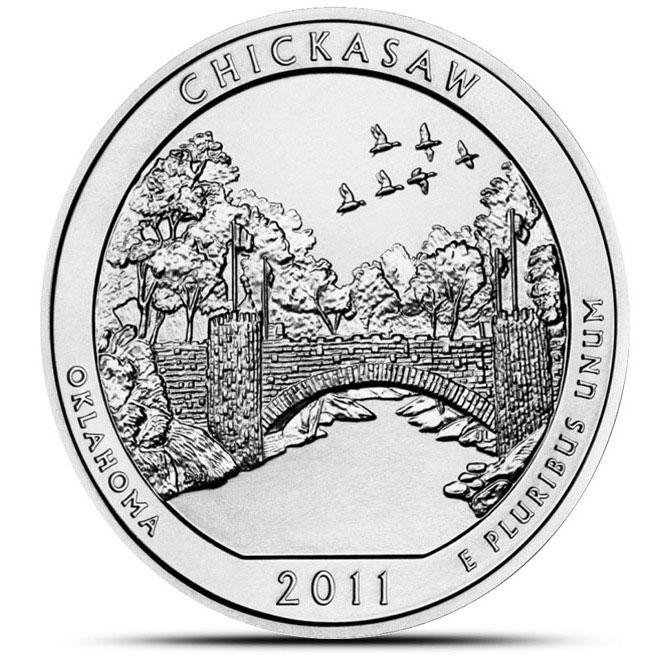 2011 Chickasaw National Park 5 oz Silver ATB