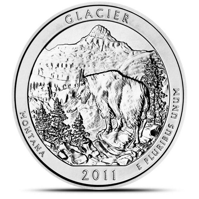 2011 Glacier National Park ATB 5 oz Silver Coin
