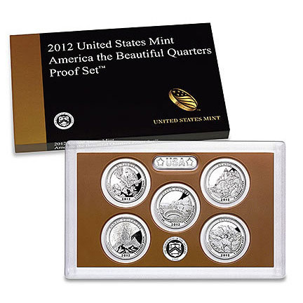 2012 America the Beautiful Quarters Only Proof Coins Set