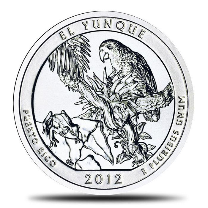 2012 El Yunque National Park Puerto Rico 5 oz Silver ATB Coin