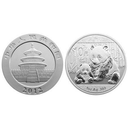 2012 1 oz Chinese Silver Panda Bullion Coins