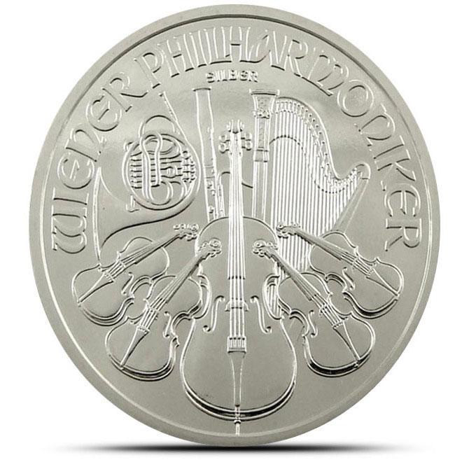 2012 1 oz Austrian Silver Philharmonic Bullion Coin Reverse