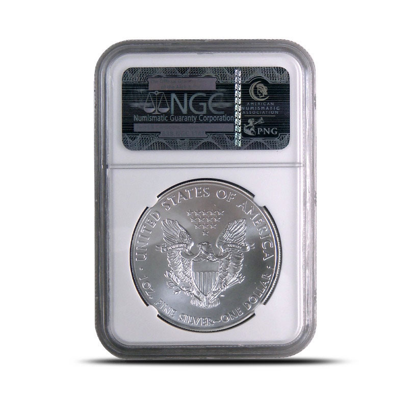 NGC MS70 2012 (W) American Silver Eagle Bullion Coin Reverse