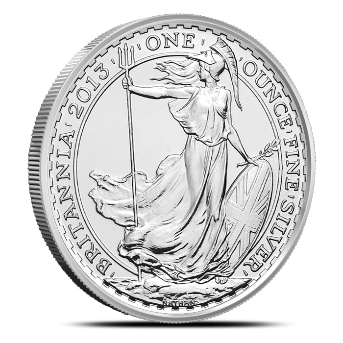 2013 1 oz Silver Britannia Snake Privy