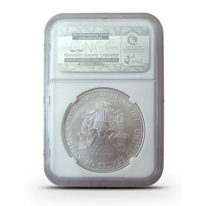 2013 S | NGC MS70 ER | American Silver Eagle | Tolley Lable Reverse