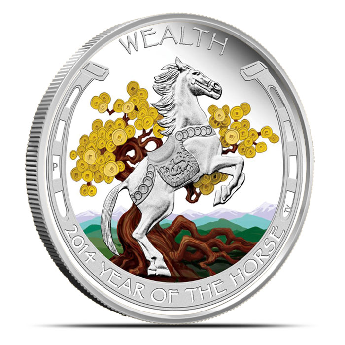 2014 Australian Good Fortune Year of the Horse Silver Collection | Wealth
