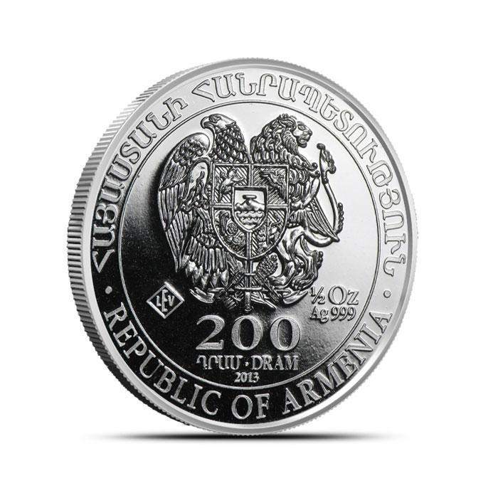 Armenian 1/2 oz Silver Noah