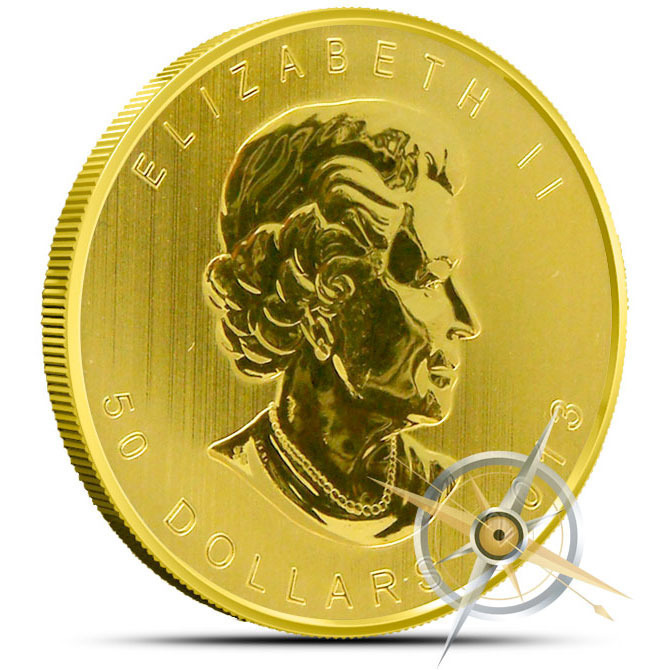 2013 1 oz Canadian Gold Maple Obverse