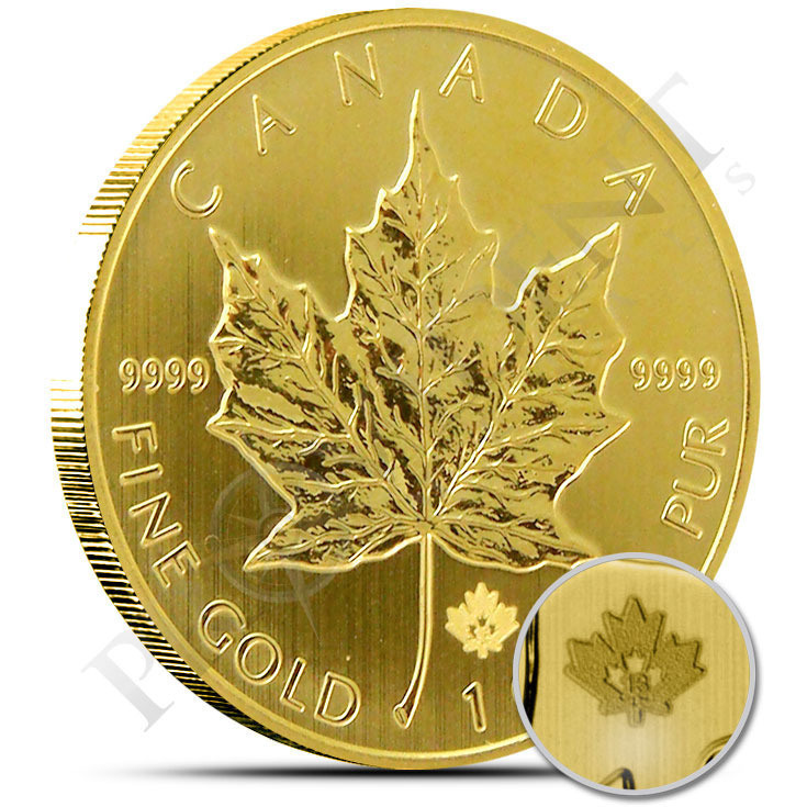 2013 1 oz Canadian Gold Maple with Laser Etched Security Feature