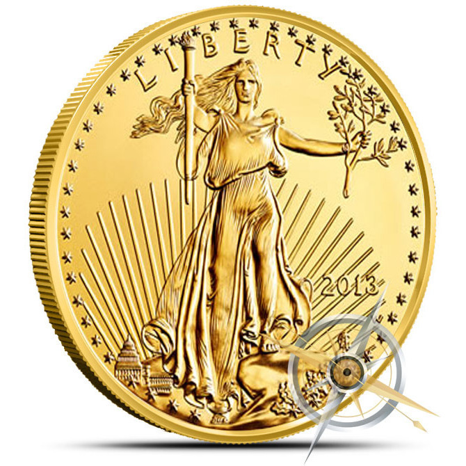2013 1 oz American Gold Eagle Obverse