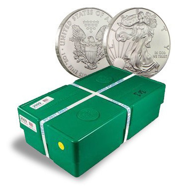 2013 American Silver Eagle Monster Box of 500 - 1 oz Coins