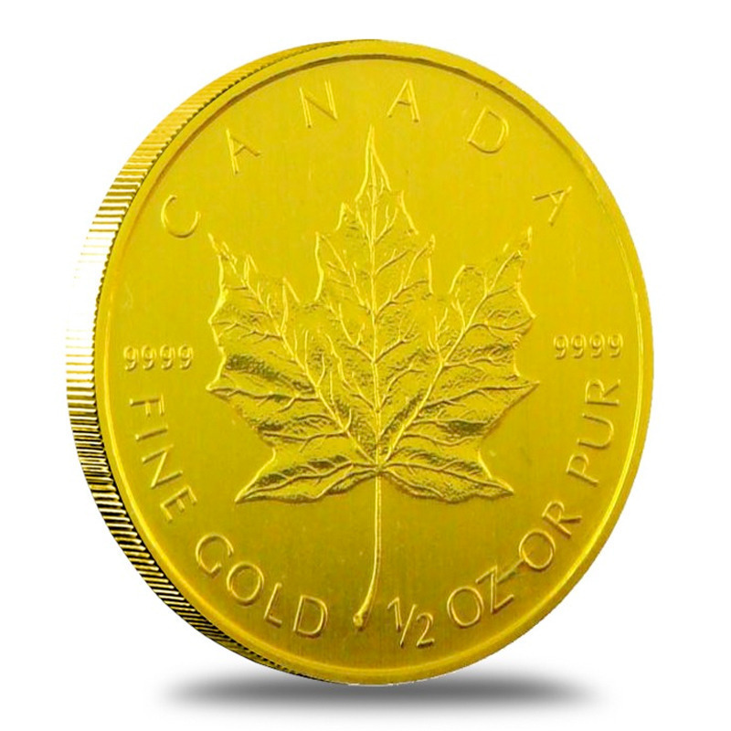 2013 1/2 oz Canadian Gold Maple Leaf Reverse