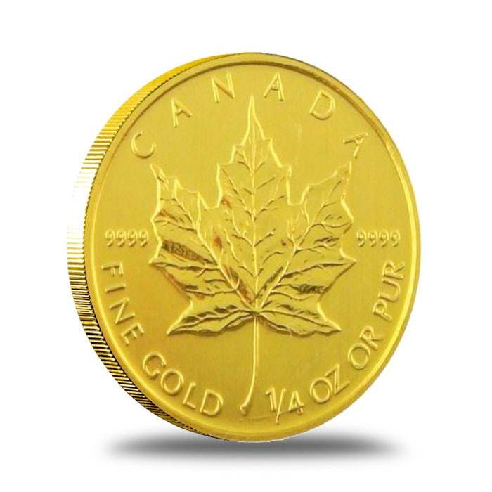 2013 1/4 oz Canadian Gold Maple Leaf Reverse