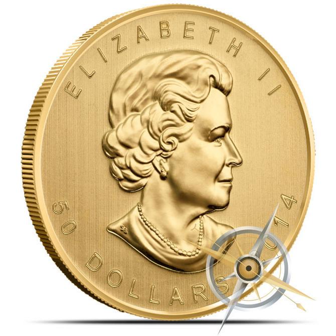 2014 1 oz Canadian Gold Maple Leaf Reverse