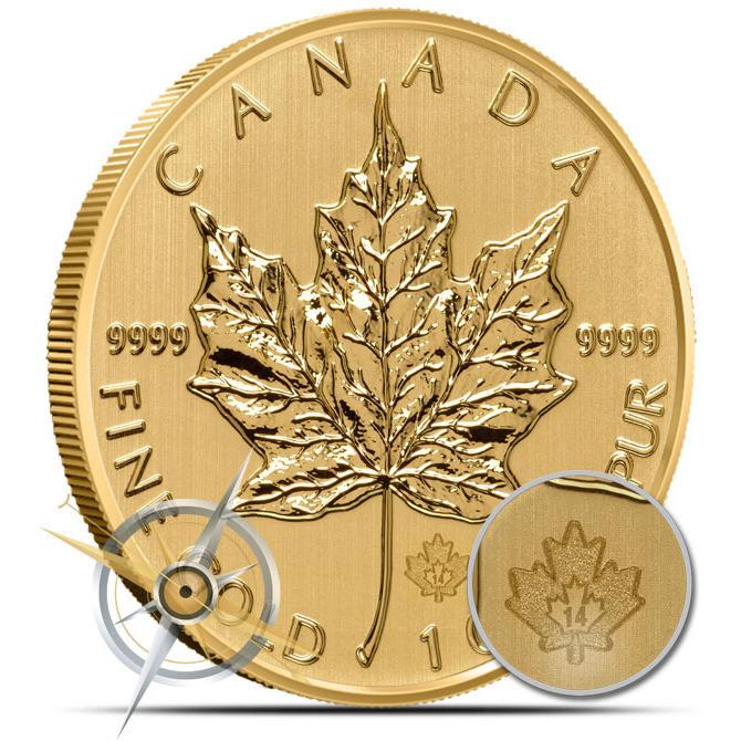 2014 1 oz Canadian Gold Maple Leaf