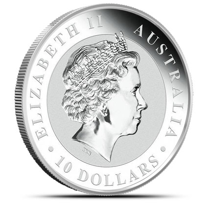 2014 10 oz Silver Kookaburra Reverse