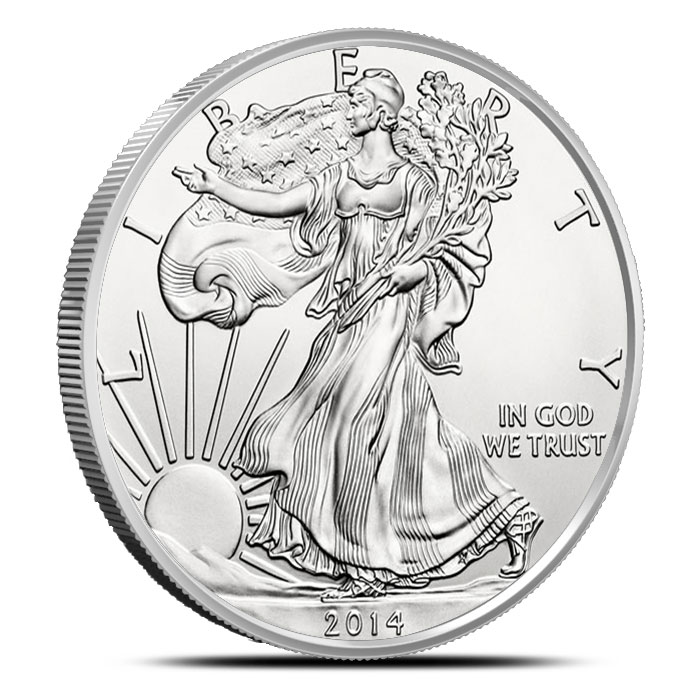Burnished Silver Eagle   2014