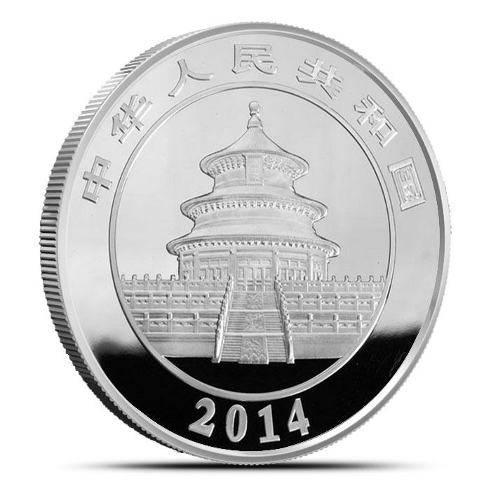 2014 Kilo Chinese Silver Panda Obverse