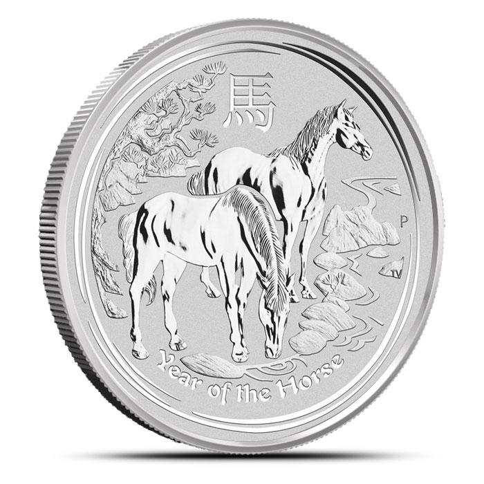2014 5 oz Silver Perth Lunar Year of the Horse