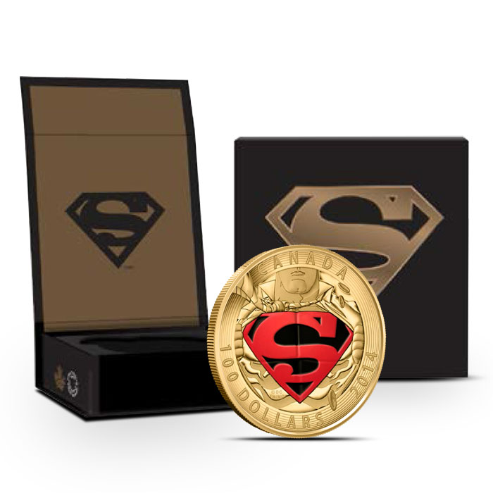 2014 The Adventures of Superman 14k Gold Coin
