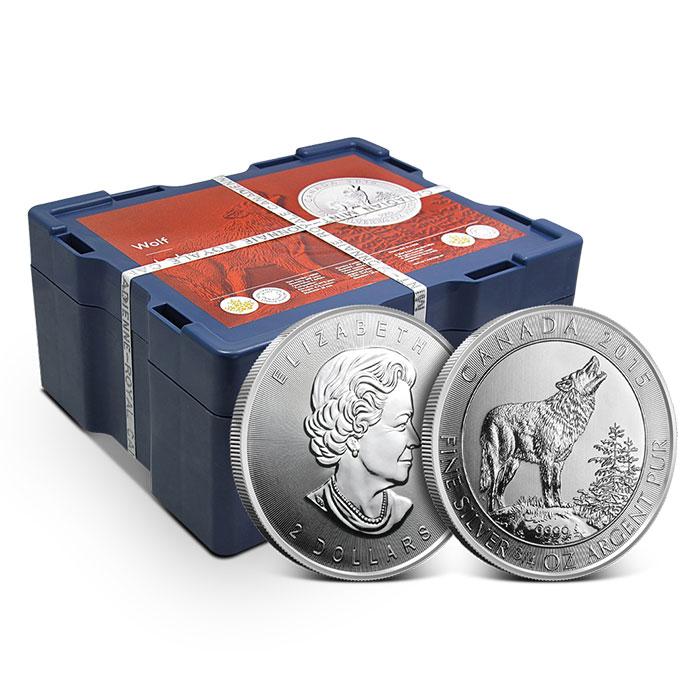 Monster Box 2015 Canada 3/4 oz Silver Grey Wolf