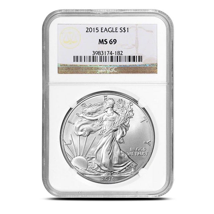 NGC MS69 2015 American Silver Eagle