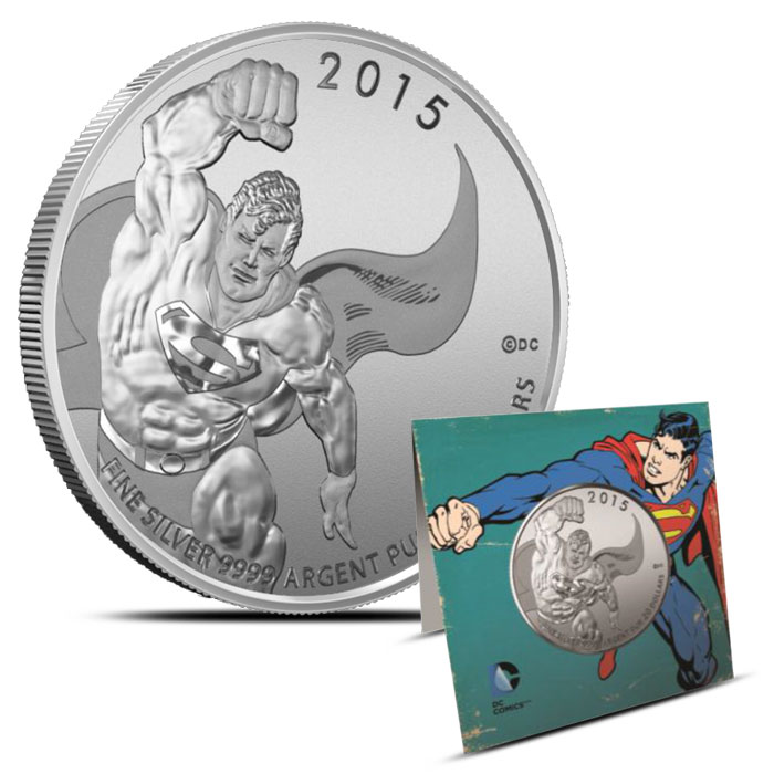 2015 Canadian 1/4 oz Silver $20 for $20 Round | Superman