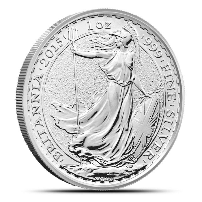 2014 One Ounce Silver Britannia Reverse