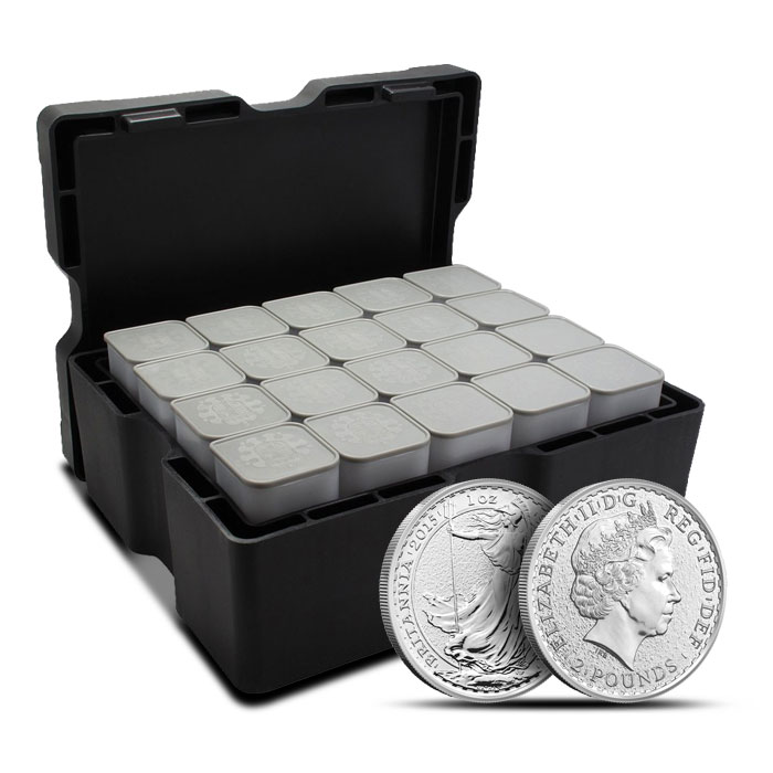 2014 1 oz Silver Britannia Monster Box