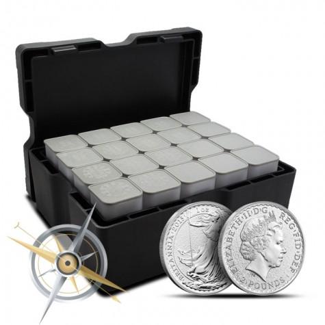 2016 Silver Britannia Monster Box | 500 1 oz Coins-15818