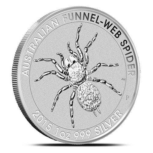 2015 1 oz Silver Funnel-Web Spider