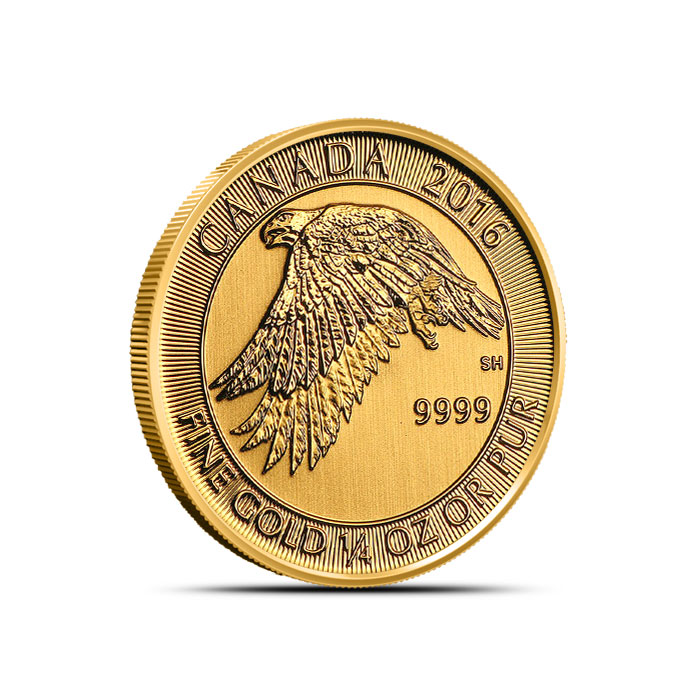 2016 1/4 oz Canadian Gold Snow Falcon