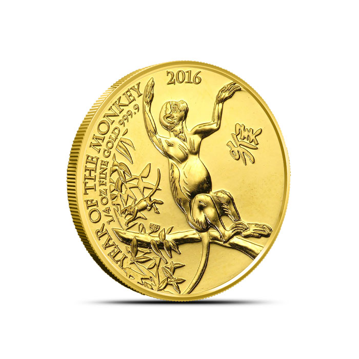 2016 1/4 oz Gold Britain Monkey