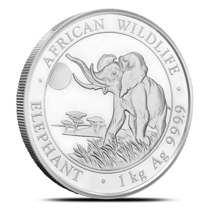 2016 1 kilo Somalian Elephant Silver Coin