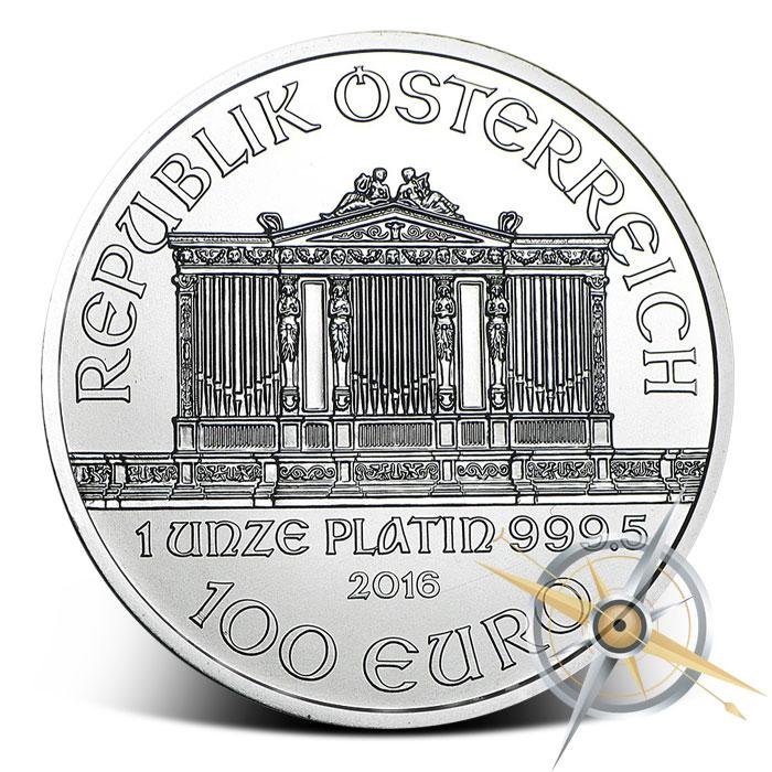 2016 one ounce Austrian Platinum Philharmonic