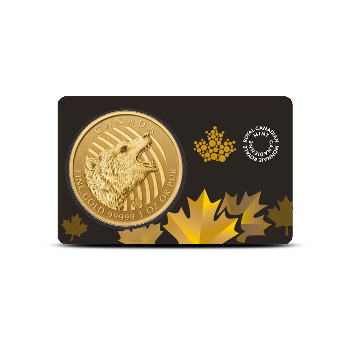 2016 one ounce Gold Roaring Grizzly Bear | Call of the Wild
