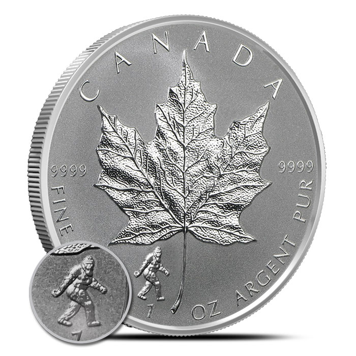 2016 1 oz Canadian Silver Maple Leaf Bigfoot Privy