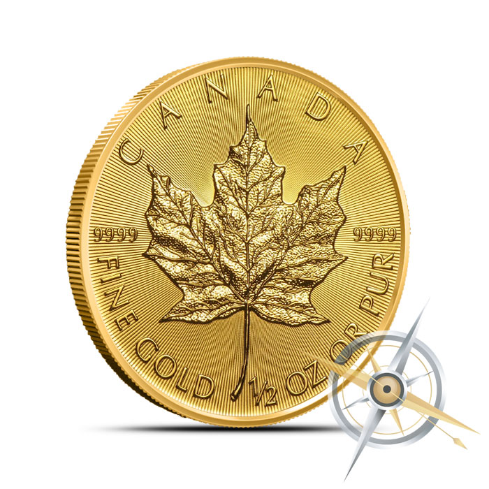 2016 1/2 oz Canadian Gold Maple Leaf