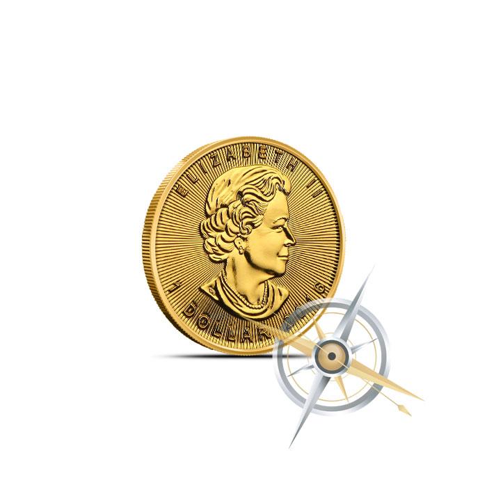 2016 Canadian Gold Maple Leaf   1/20 oz