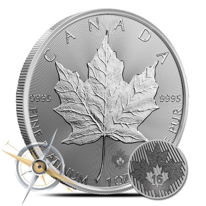 2016 1 oz Canadian Platinum Maple Leaf