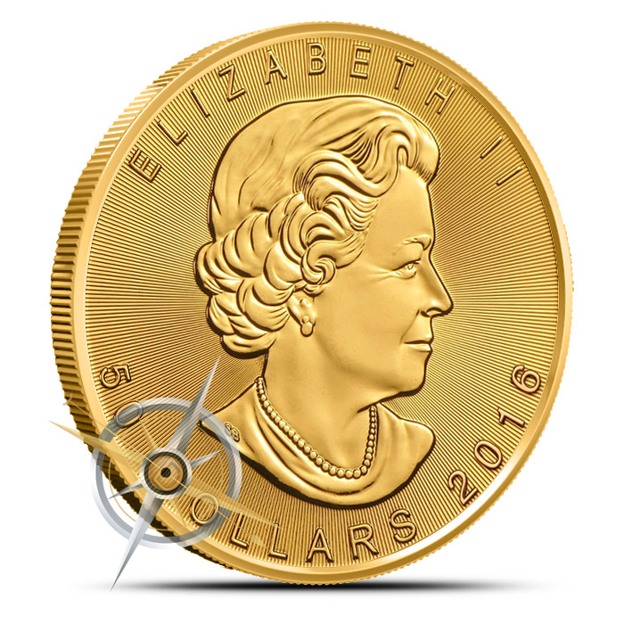 2016 one ounce Canadian Gold Maple Leaf