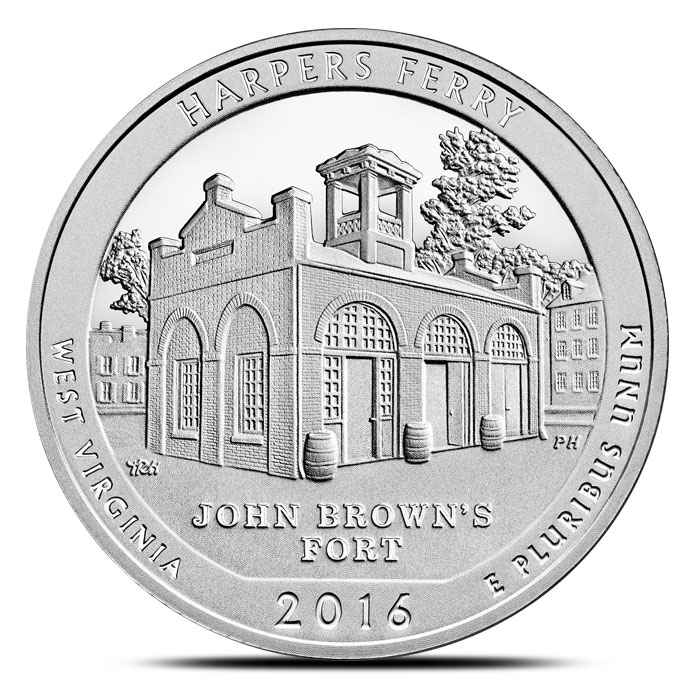 2016 Harpers Ferry National Historical Park 5 oz Silver ATB
