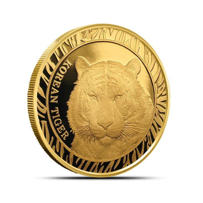 2016 South Korea 1/2 oz Gold Tiger