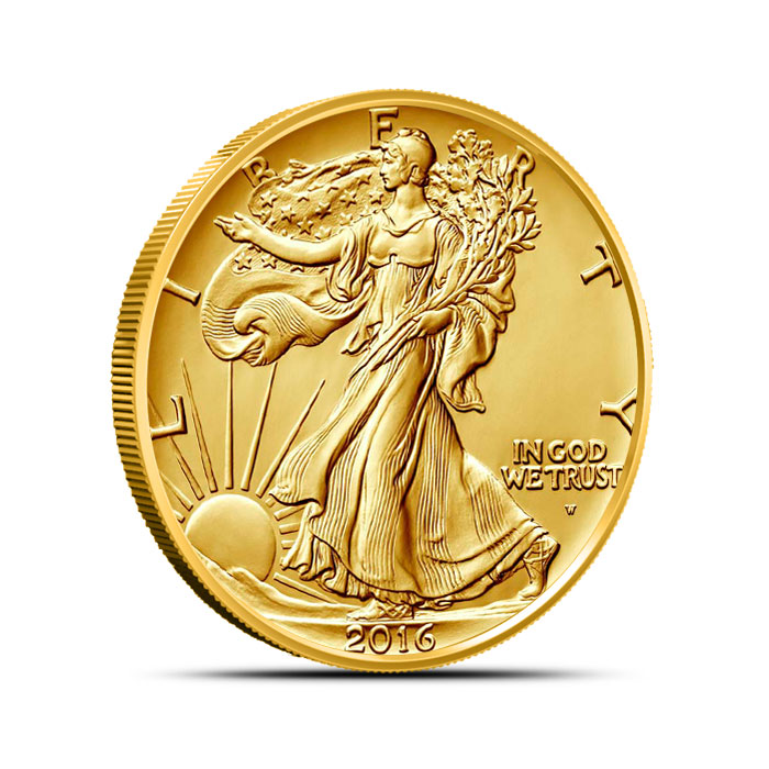 2016 Walking Liberty 1/2 oz Gold Centennial Coin