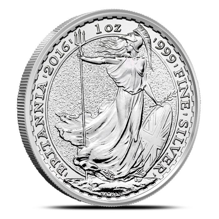 2016 1 oz Silver Britannia   British Royal Mint